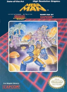 USA Mega Man NES game cover art